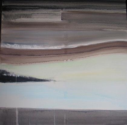 Paysage zen II - acrylique sur toile 80 x 80 - 2012
