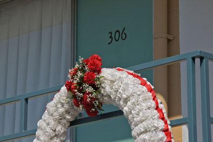 auf dem Balkon vor seinem Zimmer 306 wurde Dr. Martin Luther King jr. erschossen ...