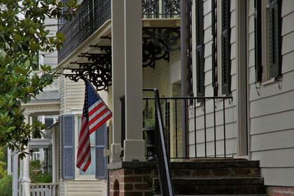 Typischer Aufgang in ein Herrschaftshaus in Savannah