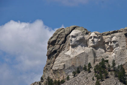 Mount Rushmore in den BlackHills bei Rapid City