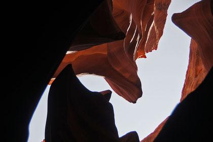 ein Ausschnitt aus dem phänomenalen AntelopeCanyon
