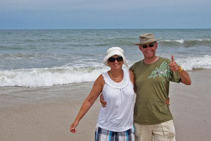 Glücklich am Ziel: an der Atlanikküste in VeroBeach. Atlantik - Pazifik retour; Der Traum wurde Wahrheit!