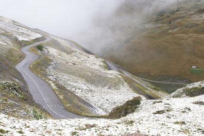 Col du Galibier ... der erste Schnee im September