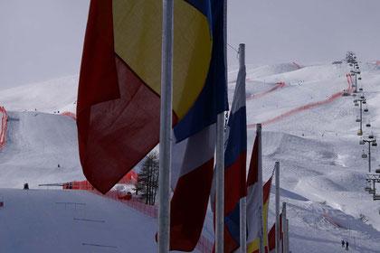 Stimmungsbild aus Salastrains, dem Renngelände ob St. Moritz