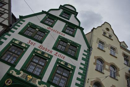 """Erfurt - Domplatz. """"zur hohen Lilie"""""""