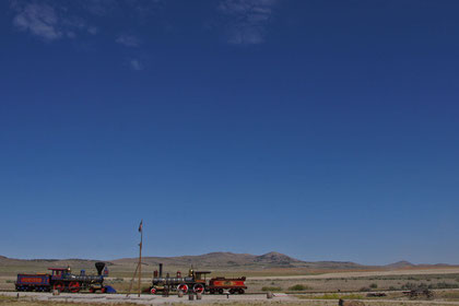 An diesem weit abgelegenen Ort in den Bergen Utahs wurden die USA-Durchquerung mit der Eisenbahn vollendet.