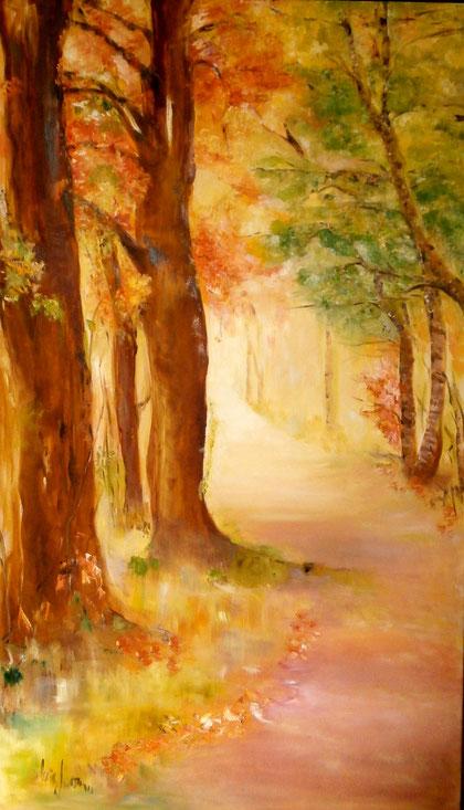 """Der Weg""     Ölbild        150H x 85B cm"
