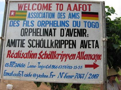 Schulschild AAFOT Avéta