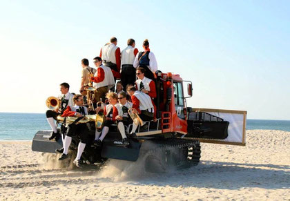 """The """"Kleine Partie"""" visiting our sister resort Kampen, Island of Sylt, Germany"""