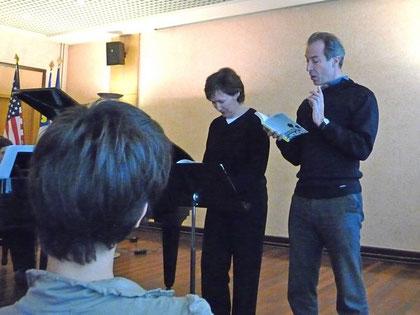 Geneviève Robin et John Haskell (mairie de Brest 2009)