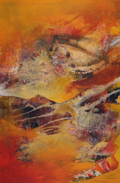 """Berge"" 50x80 Acryl auf Leinwand 2013"