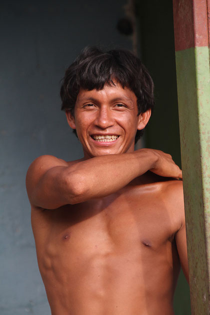 Indianer im Dorf