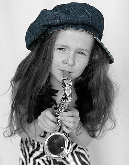 ich spiele Saxophon