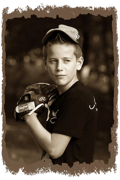 Joschua als Baseballer