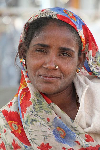 Frau in Varanasi