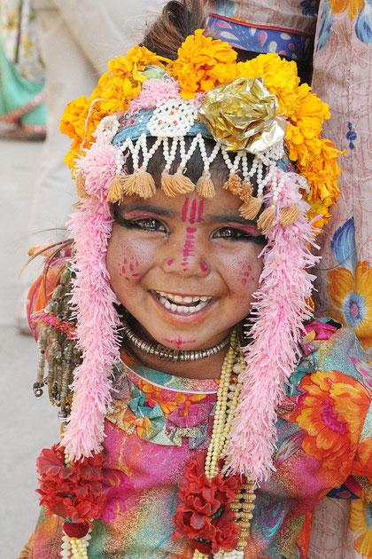 Kiind in indischer Tracht