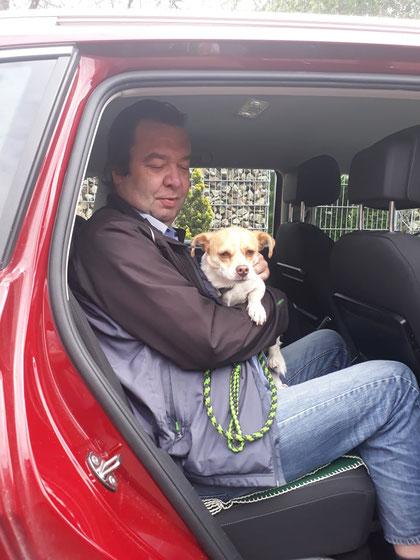 Finjo (Rufino) fuhr in sein neues Zuhause in Rheine.