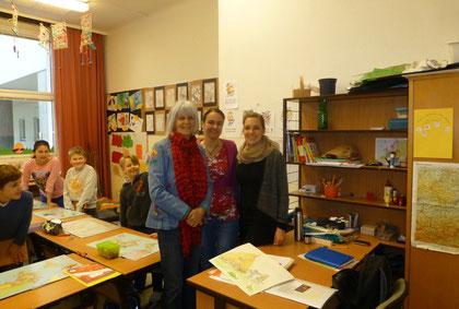 Besprechung und Planung mit den Schülern der 4B