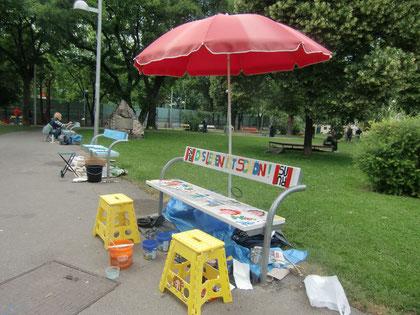 Künstler im Park