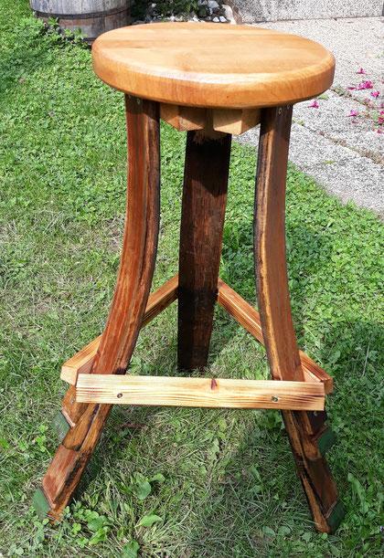 Sitzhocker-Barhocker aus Fassdauben