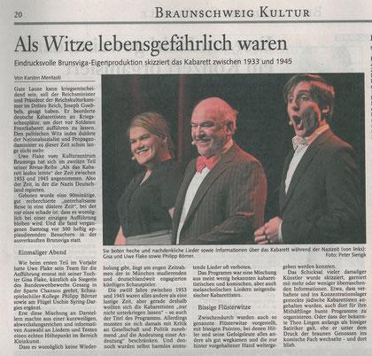 Braunschweiger Zeitung vom 27.1.2010