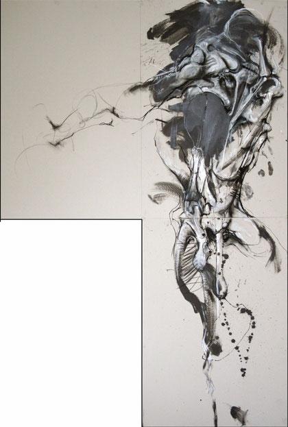 Acrylique sur carton Dim:240cmx160cm
