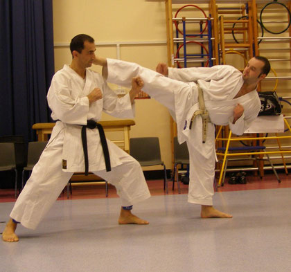 Sensei P. Camillini and Sensei M. Stockham