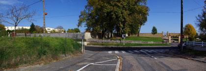 Die nebeneinander liegenden Friedhöfe
