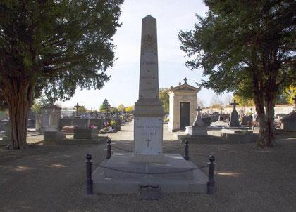 Gedenkstein für gefallene Franzosen im Krieg 1870/71