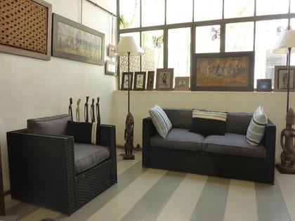 meubles tissage fibre synthétique