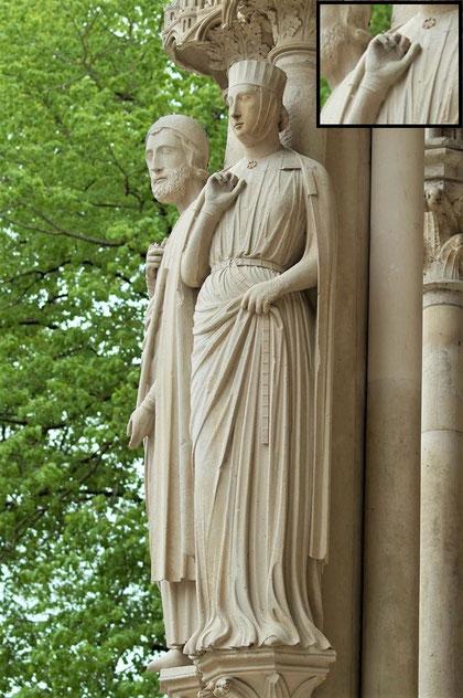 Fig. 11 - Bethsabée, cathédrale de Chartres, début XIIIe. (crédit photo Laetitia Breteaux)