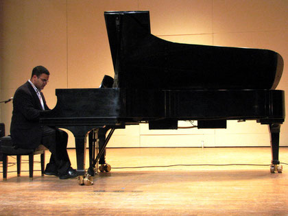 Playing a Steinway Concert Grand Piano