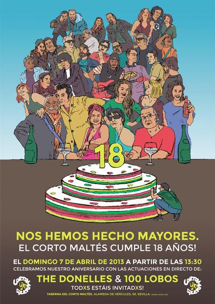 Cartel para el 18 aniversario.