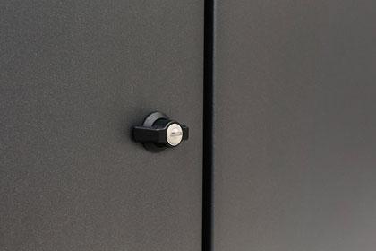 Mülltonnenbox Detail Verschluss DB 703