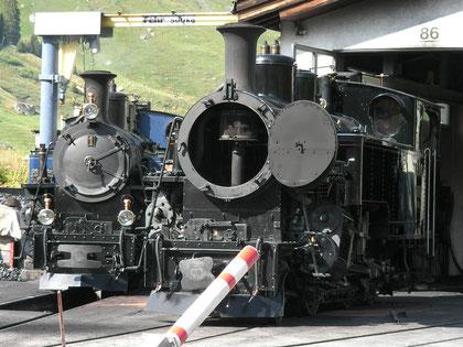 DFB 1 und FO 4 im Depot Realp