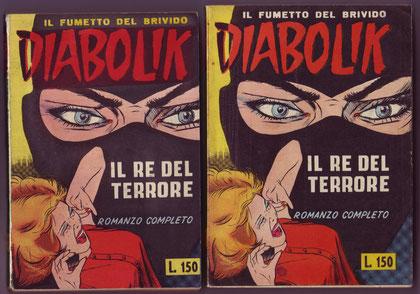 Confronto fra la copertina dell'albo ibrido (a sin. )e quello del 1963 (a destra)