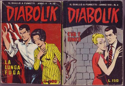 """Sopra le tre copertine che hanno """"ispirato"""" la copertina dell'albo e la copertina di """"Ore di Terrore"""" da cui è stata presa l'immagine usata per il retro copertina"""