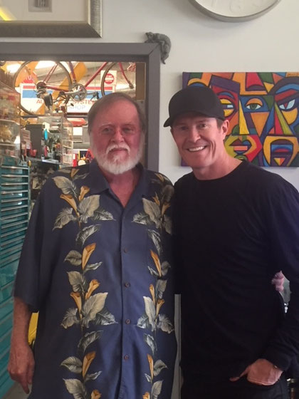 HELLO TO SCOTT DIXON INDIANAPOLIS 500 WINNER  VISITING OUR SHOP ! ! !