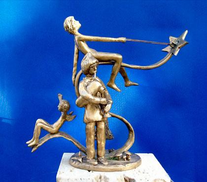 """"""" VIA ! ... sulla magica stella """" -   ( bronzetto di Luciano Galassi )"""
