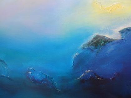 © 2014 Stiller Ozean / Mystic Blue - Acryl auf Leinwand 90 x 60