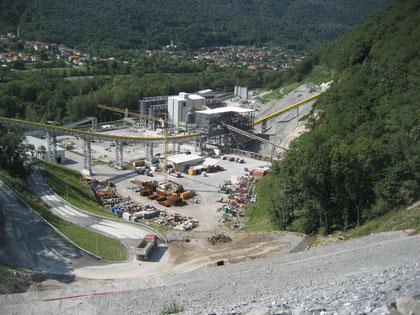 Site de gestion et valorisation de matériaux excavés de Sigirino