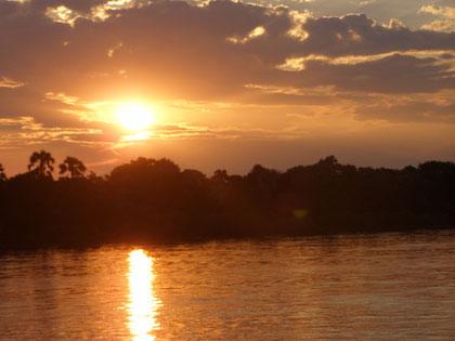Couché de soleil sur le Zambèze