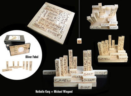moderne Holzkrippe