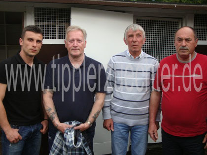 Bild 4: Aleksandar, Paul Green, Jim Johnson, Antun