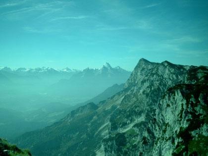 Der Talkessel von Berchtesgaden vom Salzburger Hochthron aus