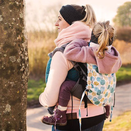 Huckepack Onbuhimo Preschooler carrier for kids, child carrier for toddlers.