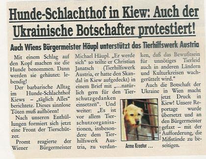Auch der ukrainische Botschafter protestiert