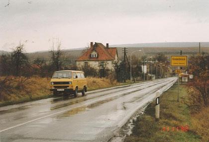 """""""Auslandseinsatz"""" des Seligenstädter Radarwagens am 11.11.1992 in Kindelbrück"""