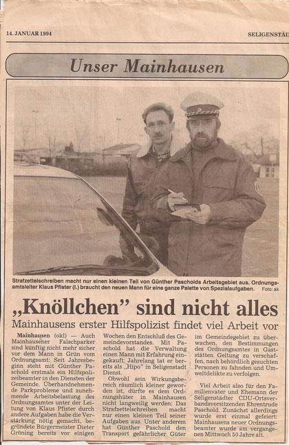 Seligenstädter Heimatblatt v. 14.01.1994