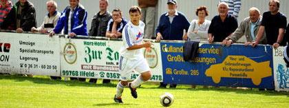Robin Teichmann war im Mittelfeld der Dreh- und Angelpunkt des Großwechsunger Spiels. Er erzielte auch das 1:0. Foto: Wolfgang Hasselbach